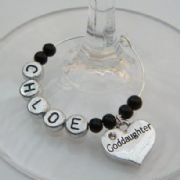 Goddaughter Personalised Wine Glass Charm